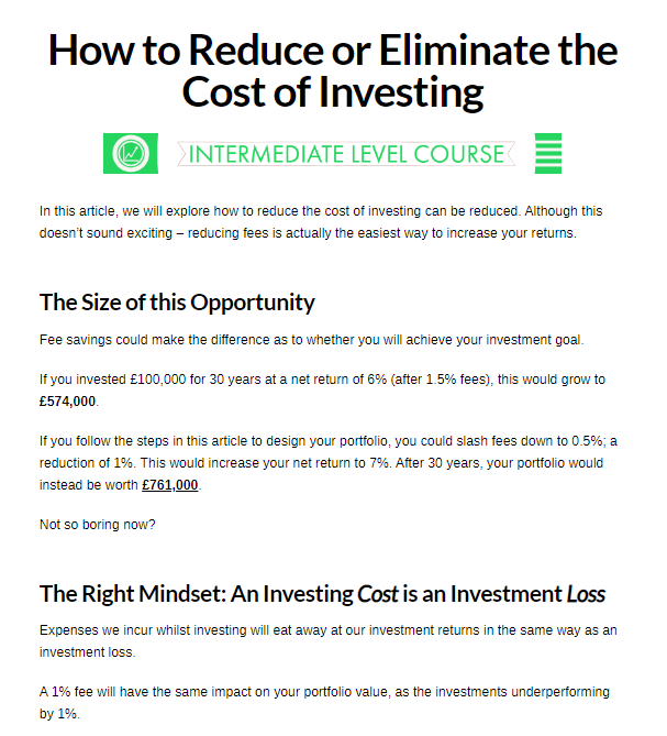 How to reduce or eliminate the cost of investing