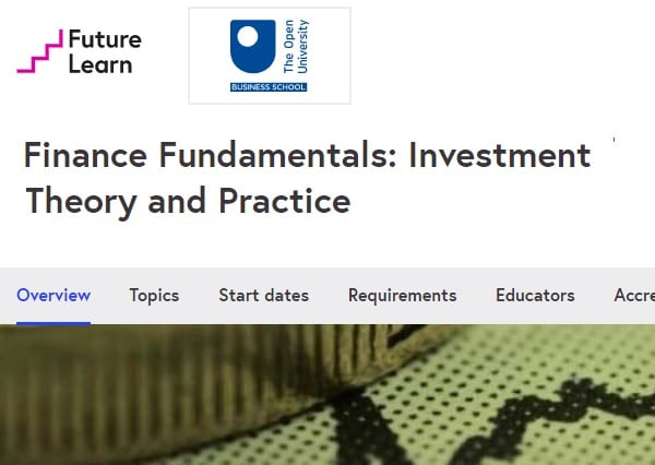 Best free investing courses - Future Learn