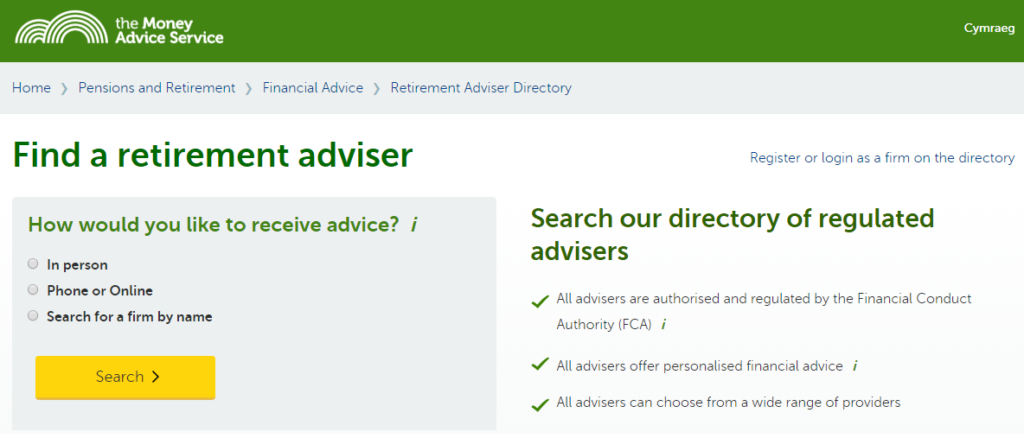 Find a financial adviser - MAS