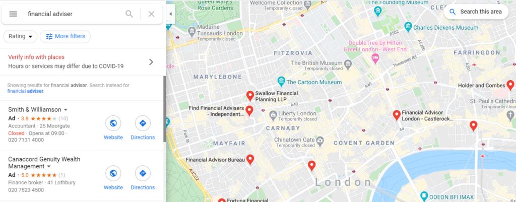 Find a financial adviser - Google