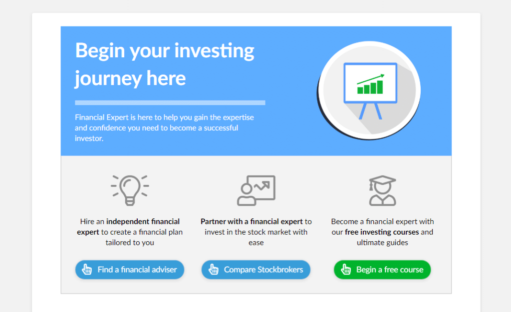 Financial Expert Homepage