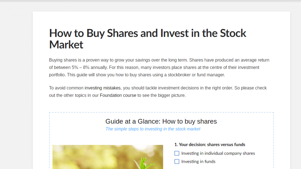 How to buy shares