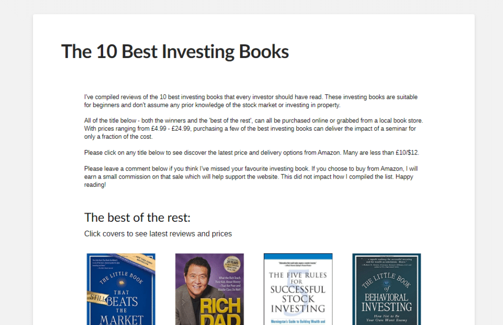 The 10 best investing books